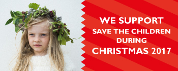 We support Save the Children during Christmas 2017